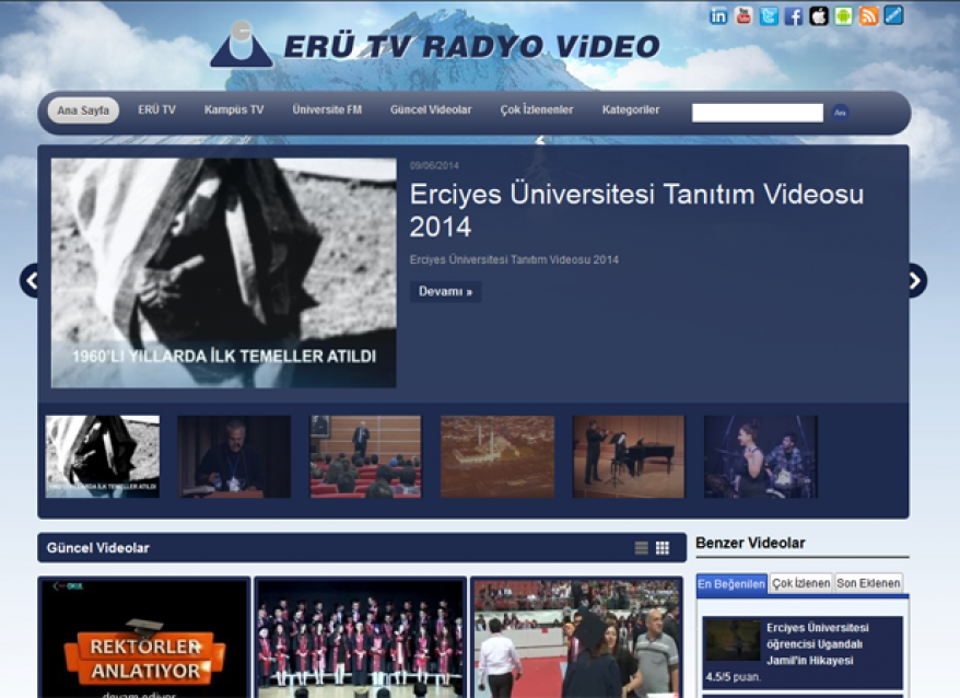 Kayseri Erciyes Üniversitesi WebTv